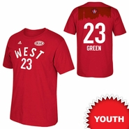 Golden State Warriors adidas Youth 2016 NBA All-Star Draymond Green #23 Western Conference Gametime Player Tee - Red