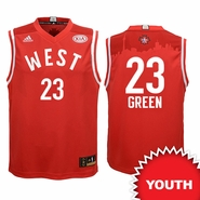 Golden State Warriors adidas Youth 2016 NBA All-Star Draymond Green #23 Western Conference Replica Jersey - Red