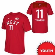 Golden State Warriors adidas Youth 2016 NBA All-Star Klay Thompson #11 Western Conference Gametime Player Tee - Red