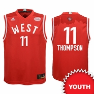 Golden State Warriors adidas Youth 2016 NBA All-Star Klay Thompson #11 Western Conference Replica Jersey - Red