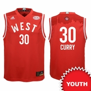 Golden State Warriors adidas Youth 2016 NBA All-Star Stephen Curry #30 Western Conference Replica Jersey - Red