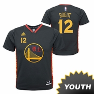 Golden State Warriors adidas Youth Andrew Bogut #12 Chinese Heritage Replica Jersey - Slate