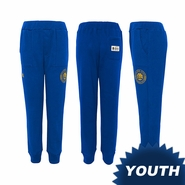 Golden State Warriors adidas Youth Archetype Sueded Fleece Pant - Royal