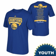 Golden State Warriors adidas Youth Banner Champions Roster Tee - Royal