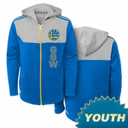 "Golden State Warriors adidas Youth ""Blow By Em"" Full Zip - Hoodie"