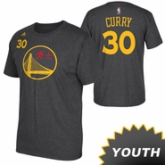 Golden State Warriors adidas Youth Chinese Heritage Stephen Curry #30 Gametime Tee - Slate