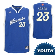 Golden State Warriors adidas Youth Draymond Green #23 Christmas Day Replica Jersey - Royal