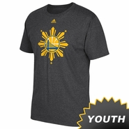 Golden State Warriors adidas Youth Filipino Heritage On-Court Tee - Slate