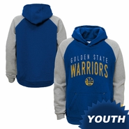 Golden State Warriors adidas Youth Foundation Hoodie - Royal/Grey