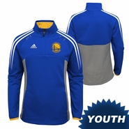 Golden State Warriors adidas Youth Girls Primary Logo Extreme 1/2 Zip Top - Royal