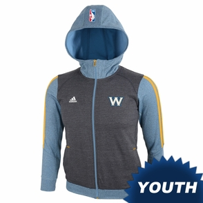 Golden State Warriors adidas Youth Travel Top - Grey - Click to enlarge