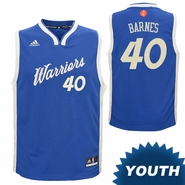 Golden State Warriors adidas Youth Harrison Barnes #40 Christmas Day Replica Jersey - Royal