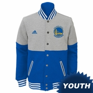 Golden State Warriors adidas Youth �Horizon Var-City� Fleece Jacket � Grey