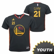 Golden State Warriors adidas Youth Ian Clark #21 Chinese Heritage Replica Jersey - Slate