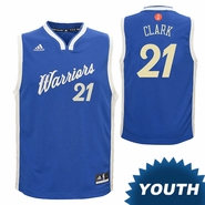 Golden State Warriors adidas Youth Ian Clark #21 Christmas Day Replica Jersey - Royal