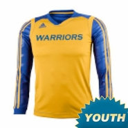 Golden State Warriors adidas Youth Impact Long Sleeve Shooting Shirt - Gold/Royal
