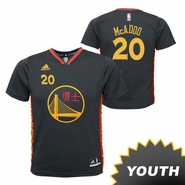 Golden State Warriors adidas Youth James Michael McAdoo #20 Chinese Heritage Replica Jersey - Slate