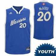 Golden State Warriors adidas Youth James Michael McAdoo #20 Christmas Day Replica Jersey - Royal