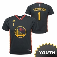 Golden State Warriors adidas Youth Jason Thompson #1 Chinese Heritage Replica Jersey - Slate