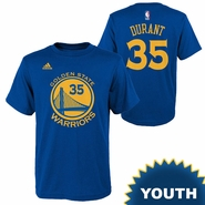 Golden State Warriors adidas Youth Kevin Durant #35 Gametime Name & Number Tee - Royal