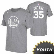 Golden State Warriors adidas Youth Kevin Durant #35 Gametime Name & Number Tee - Slate