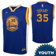 Golden State Warriors adidas Youth Kevin Durant #35 Road Replica NBA Jersey - Royal