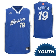 Golden State Warriors adidas Youth Leandro Barbosa #19 Christmas Day Replica Jersey - Royal