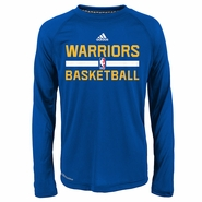 Golden State Warriors adidas Youth Long Sleeve Practice CLIMALITE Tee - Royal