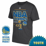 Golden State Warriors adidas Youth NBA Finals Champion Locker Room Tee - Grey - Will Ship 7/8