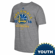Golden State Warriors adidas Youth NBA Finals Classic Short Sleeve Tri-blend Tee - Grey