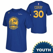 Golden State Warriors adidas Youth NBA Finals Stephen Curry #30 Replica Tee - Royal