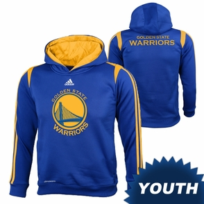 Golden State Warriors adidas Youth On-Court Hoody - Royal - Click to enlarge