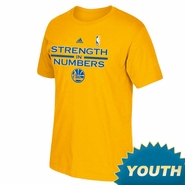 Golden State Warriors adidas Youth On-Court Playoff Tee - Gold - Will Ship 4/27