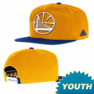 Golden State Warriors adidas Youth On-Court Snapback - Royal/Gold
