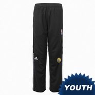 Golden State Warriors adidas Youth Partial Logo On Court Pant - Black