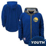 Golden State Warriors adidas Youth Partial Logo Pre-Game Hoody - Royal