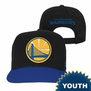 Golden State Warriors adidas Youth Partial Logo Snapback � Black/Royal