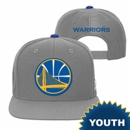 Golden State Warriors adidas Youth Partial Logo Snapback � Grey