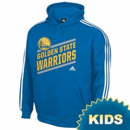 Golden State Warriors adidas Youth Playbook Stripe Hoodie - Royal