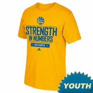 Golden State Warriors adidas Youth Playoff Giveaway Tee - Gold - Will Ship 5/1