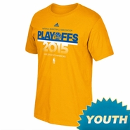 Golden State Warriors adidas Youth Playoff Statement Tee - Gold