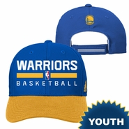Golden State Warriors adidas Youth Practice Adjustable Cap � Royal/Gold