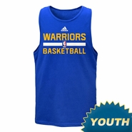 Golden State Warriors adidas Youth Practice Tank - Royal