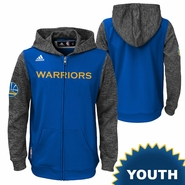Golden State Warriors adidas Youth Pre-Game Full Zip Hood � Royal/Grey