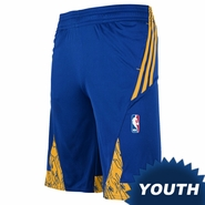 Golden State Warriors adidas Youth Pre-Game Short - Royal/Gold