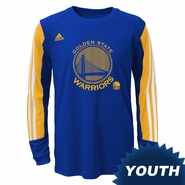 Golden State Warriors adidas Youth �Prestige� Long Sleeve Performance Tee � Royal