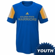Golden State Warriors adidas Youth �Prestige� Short Sleeve Performance Tee � Royal