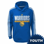 """Golden State Warriors adidas Youth """"Playbook"""" Pullover Hoodie - Royal"""