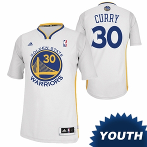 Golden State Warriors adidas Youth Revolution 30 Stephen Curry #30 Short Sleeve Swingman Alternate Jersey - White - Click to enlarge