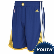 Golden State Warriors adidas Youth Road Swingman Short � Royal